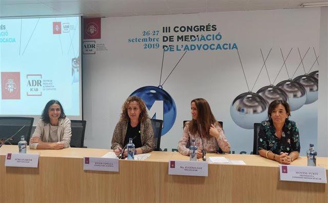 Capella apuesta por desjudicializar «litigios personales» en el Congreso de mediación del Icab